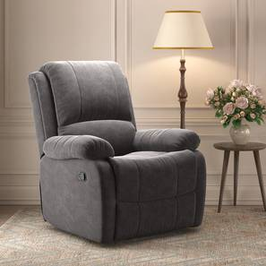 Lebowski Recliner (One Seater, Smoke Fabric) by Urban Ladder - Design 1 Full View - 312223