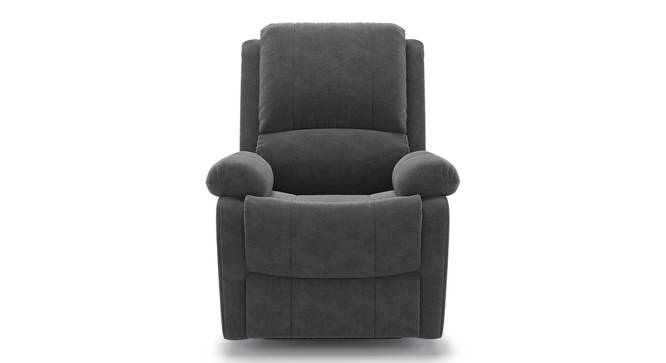 Lebowski Recliner (One Seater, Smoke Fabric) by Urban Ladder - Front View Design 1 - 312224