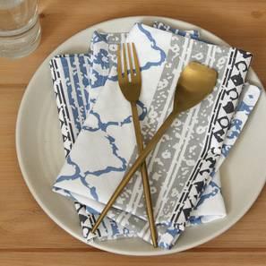 Nikrinta Napkin (Blue, Set Of 4 Set) by Urban Ladder - Design 1 Full View - 312433