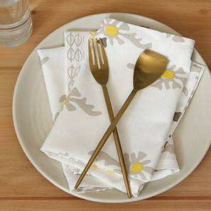 Mrinaal Napkin (Yellow, Set Of 4 Set) by Urban Ladder - Design 1 Full View - 312457