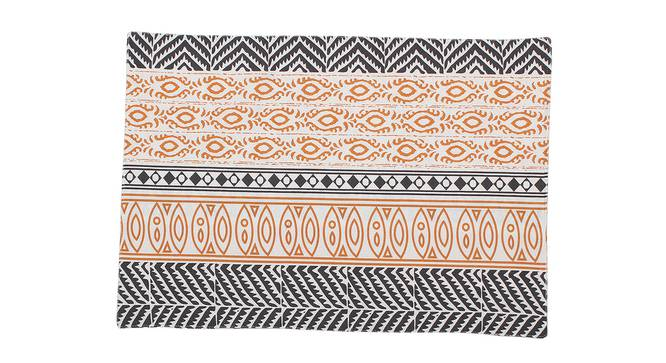 Nakshi Table Mat (Orange, Set Of 2 Set) by Urban Ladder - Front View Design 1 - 312468
