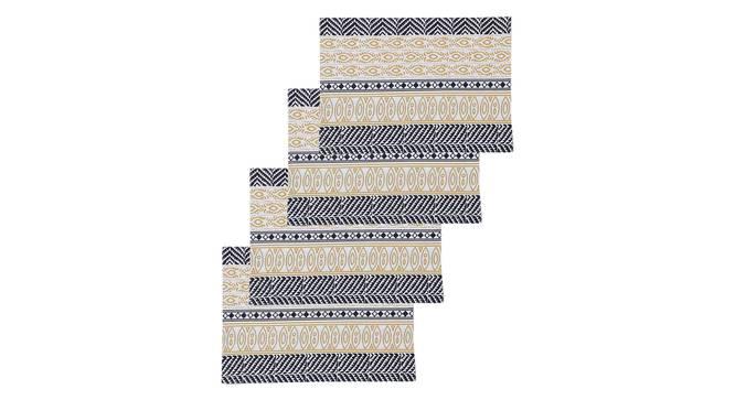 Nakshi Table Mat (Yellow, Set Of 4 Set) by Urban Ladder - Design 1 Full View - 312470