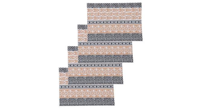 Nakshi Table Mat (Orange, Set Of 4 Set) by Urban Ladder - Design 1 Full View - 312507