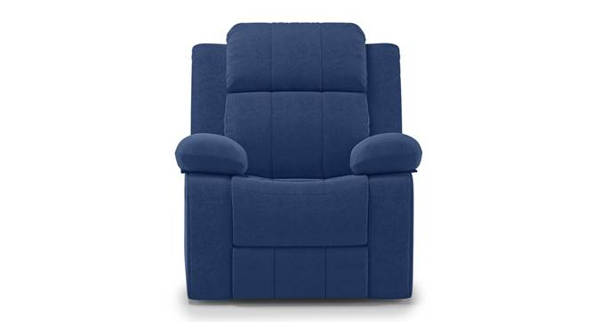 Griffin Recliner (One Seater, Lapis Blue Fabric) by Urban Ladder - Front View Design 1 - 312560