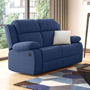 Griffin Recliner (Two Seater, Lapis Blue Fabric) by Urban Ladder - Design 1 - 312568