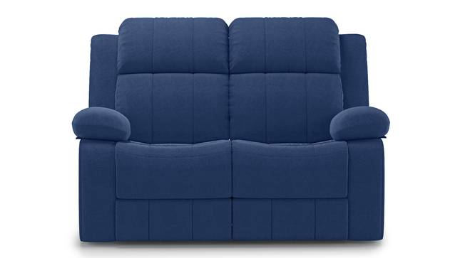 Griffin Recliner (Two Seater, Lapis Blue Fabric) by Urban Ladder - Front View Design 1 - 312569