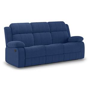 Griffin Recliner (Three Seater, Lapis Blue Fabric) by Urban Ladder - Design 1 - 312577