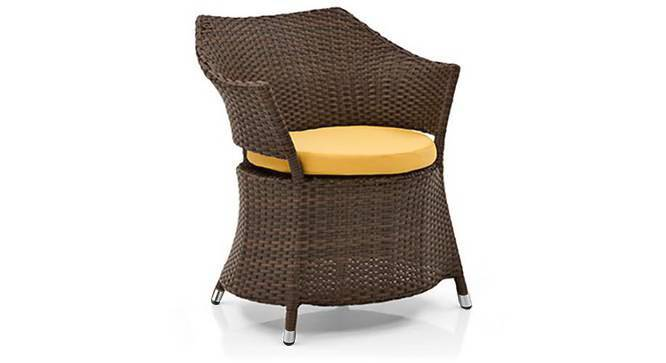 Calabah Patio Armchair (Brown) by Urban Ladder - Front View Design 1 - 312603