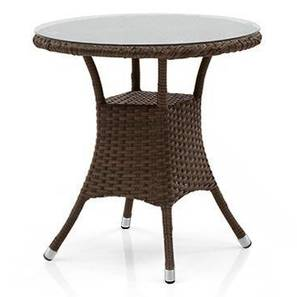 Calabah Patio Table (Brown) by Urban Ladder - Design 1 Full View - 312609
