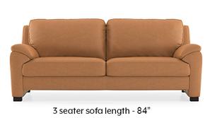 Farina Half Leather Sofa (Mustard Italian Leather)
