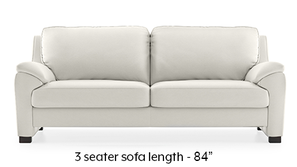 Farina Half Leather Sofa (White Italian Leather)