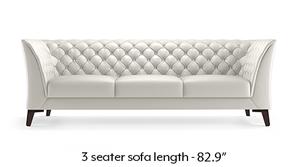 Weston Half Leather Sofa (White Italian Leather)