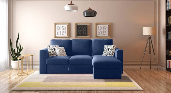 Kowloon Sectional Sofa Cum Bed with Storage (Lapis Blue) by Urban Ladder - Full View - 312722