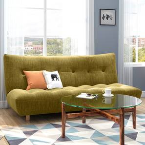 Palermo Sofa Cum Bed (Olive Green) by Urban Ladder - Full View - 312767