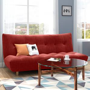Palermo Sofa Cum Bed (Salsa Red) by Urban Ladder - Full View - 312769