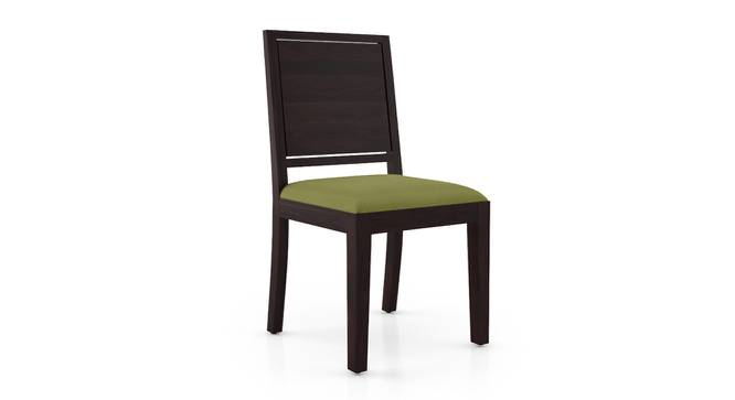 Oribi Dining Chairs - Set of 2 (Mahogany Finish, Avocado Green) by Urban Ladder - Cross View Design 1 - 312782