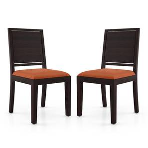 Oribi Dining Chairs - Set of 2 (Mahogany Finish, Burnt Orange) by Urban Ladder - Cross View Design 1 - 312789