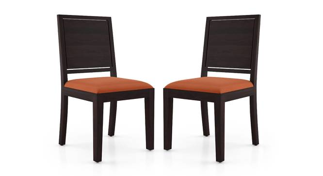 Oribi Dining Chairs - Set of 2 (Mahogany Finish, Burnt Orange) by Urban Ladder - Cross View Design 1 - 312789