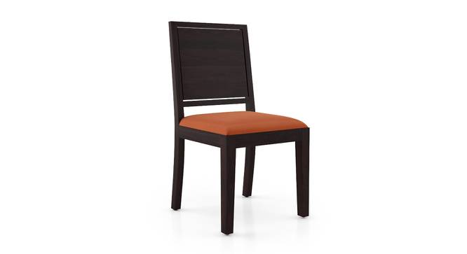 Oribi Dining Chairs - Set of 2 (Mahogany Finish, Burnt Orange) by Urban Ladder - Design 1 Side View - 312790