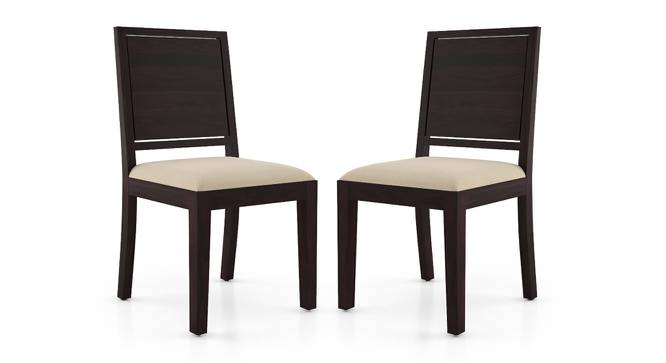 Oribi Dining Chairs - Set of 2 (Mahogany Finish, Wheat Brown) by Urban Ladder - Cross View Design 1 - 312796