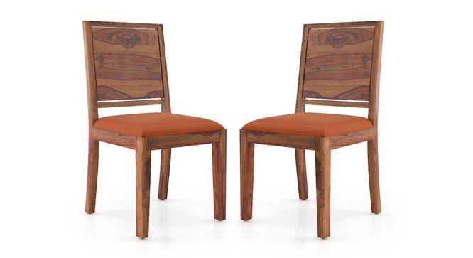 Oribi Dining Chairs - Set of 2 (Teak Finish, Burnt Orange) by Urban Ladder - Cross View Design 1 - 312810