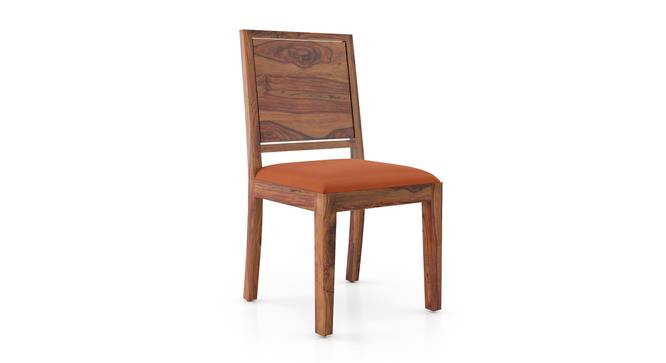 Oribi Dining Chairs - Set of 2 (Teak Finish, Burnt Orange) by Urban Ladder - Design 1 Side View - 312811