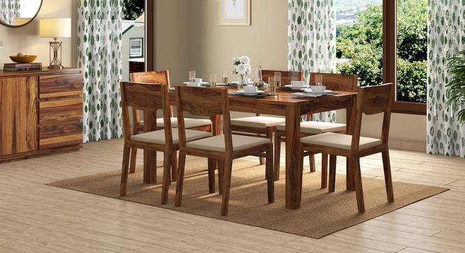 Arabia 6 Seater Dining Table (Teak Finish) by Urban Ladder - Design 1 Full View - 312895