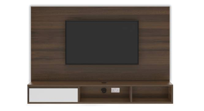 Iwaki Swivel TV Unit (Wall Mounted Unit, Columbian Walnut Finish) by Urban Ladder - Front View Design 1 - 312982