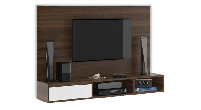 Iwaki Swivel TV Unit (Wall Mounted Unit, Columbian Walnut Finish) by Urban Ladder - Cross View Design 1 - 312983