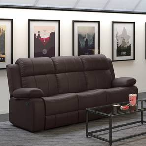 Griffin Recliner (Three Seater, Dark Chocolate Leatherette) by Urban Ladder - Design 1 Full View - 313002