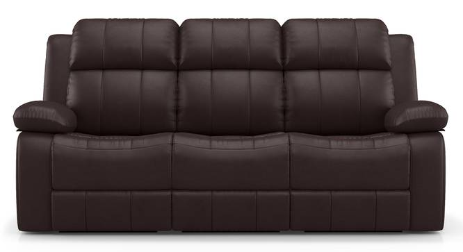 Griffin Recliner (Three Seater, Dark Chocolate Leatherette) by Urban Ladder - Front View Design 1 - 313003