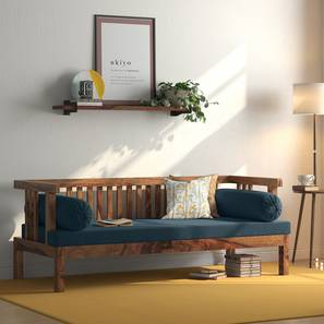 Milton Day Bed (Teak Finish, Blue) by Urban Ladder - Design 1 Full View - 313030