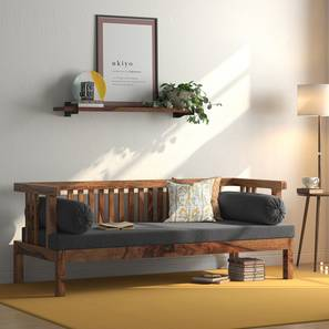 Milton Day Bed (Teak Finish, Grey) by Urban Ladder - Design 1 Full View - 313038