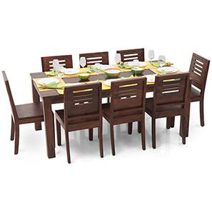 Arabia XL - Capra 8 Seater Dining  Set (Teak Finish) by Urban Ladder