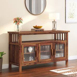Rhodes Wide 3 Door Sideboard (Teak Finish) by Urban Ladder - Design 1 Full View - 313131