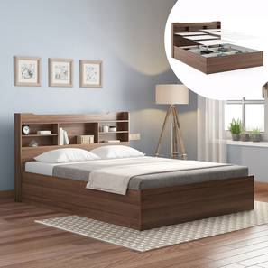 Sandon Storage Bed (King Bed Size, Box Storage Type, Classic Walnut Finish) by Urban Ladder - Design 1 Full View - 313288