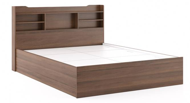 Sandon Storage Bed (King Bed Size, Box Storage Type, Classic Walnut Finish) by Urban Ladder - Front View Design 1 - 313289