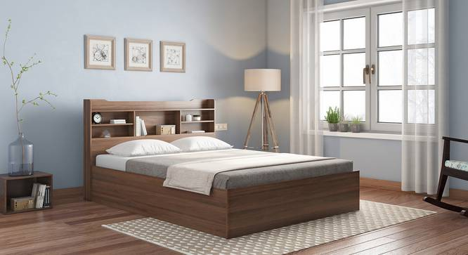 Sandon Storage Bed (Queen Bed Size, Box Storage Type, Classic Walnut Finish) by Urban Ladder - Design 1 Full View - 313296