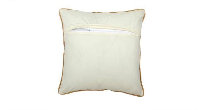 """Chuapad Cushion Cover (41 x 41 cm  (16"""" X 16"""") Cushion Size, Gold & White) by Urban Ladder - Rear View Design 1 - 313312"""