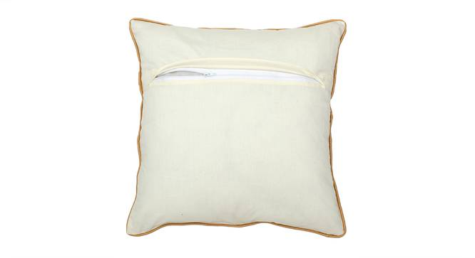 "Peeth Cushion Cover (41 x 41 cm  (16"" X 16"") Cushion Size, Gold & White) by Urban Ladder - Rear View Design 1 - 313313"