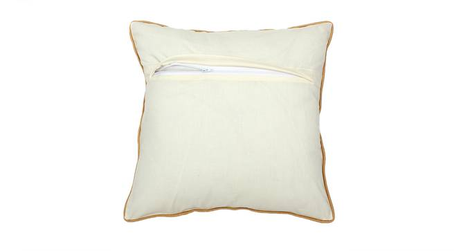 "Bindu Cushion Cover (41 x 41 cm  (16"" X 16"") Cushion Size, Gold & White) by Urban Ladder - Rear View Design 1 - 313314"