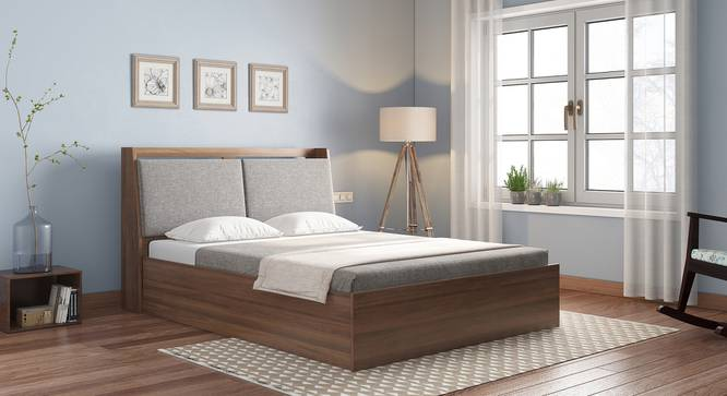 Tyra Storage Bed (King Bed Size, Box Storage Type, Classic Walnut Finish) by Urban Ladder - Design 1 Full View - 313320