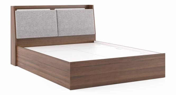 Tyra Storage Bed (King Bed Size, Box Storage Type, Classic Walnut Finish) by Urban Ladder - Front View Design 1 - 313321