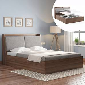 Tyra Storage Bed (Queen Bed Size, Box Storage Type, Classic Walnut Finish) by Urban Ladder - Design 1 Full View - 313329