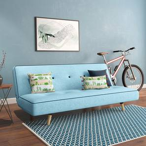 Zehnloch Sofa Cum Bed (Glacier Blue) by Urban Ladder - Full View Design 1 - 318798