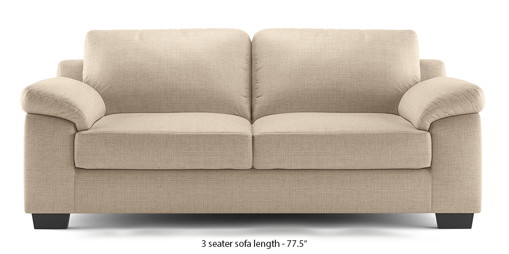 Esquel Sofa (Pearl White) (Pearl, 1-seater Custom Set - Sofas, None Standard Set - Sofas, Fabric Sofa Material, Regular Sofa Size, Regular Sofa Type) by Urban Ladder - - 313483