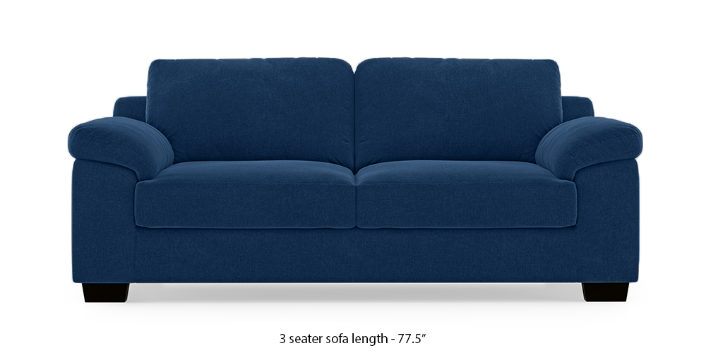 Esquel Sofa (Cobalt Blue) (1-seater Custom Set - Sofas, None Standard Set - Sofas, Cobalt, Fabric Sofa Material, Regular Sofa Size, Regular Sofa Type) by Urban Ladder - - 313488