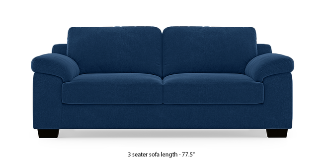 Esquel Sofa (Cobalt Blue) (1-seater Custom Set - Sofas, None Standard Set - Sofas, Cobalt, Fabric Sofa Material, Regular Sofa Size, Regular Sofa Type)