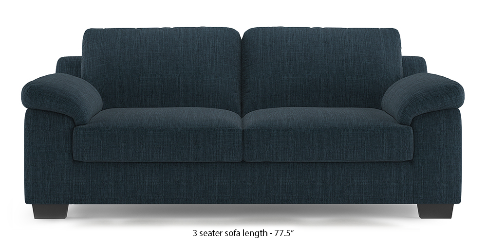 Esquel Sofa (Indigo Blue) (1-seater Custom Set - Sofas, None Standard Set - Sofas, Indigo Blue, Fabric Sofa Material, Regular Sofa Size, Regular Sofa Type) by Urban Ladder - - 313496