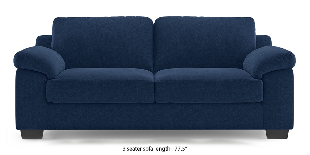 Esquel Sofa (Lapis Blue) (1-seater Custom Set - Sofas, None Standard Set - Sofas, Fabric Sofa Material, Regular Sofa Size, Regular Sofa Type, Lapis Blue) by Urban Ladder - - 313499